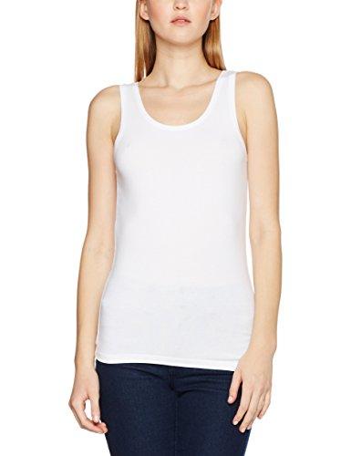 PIECES Pcsirene Tank Top Noos, Vestaglia Donna Bianco (Bright White)