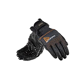Ansell ActivArmr 97-008 Multi-purpose gloves, mechanical protection, Black, Size 8 (Pack of 1 pair)