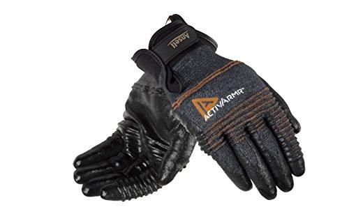 Ansell ActivArmr 97-008 Mehrzweckhandschuhe, Mechanikschutz, Schwarz, Größe 9 (1 Paar pro Beutel) Steel Toe 9