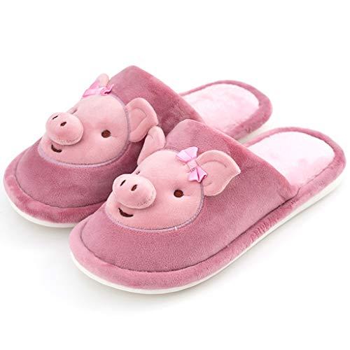 Watopi Home rutschfeste Slippers Winter Baumwolle Pantoffeln für Damen Herren Flauschige Kuschelig Hausschuhe Super Warme Plüsch Hausschuhe und Indoor Weiche rutschfeste Slippers