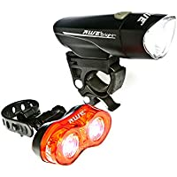 AWE® AWEBrightTM 1 x Super Bright Front LED & 0.5W x 2 Rear LED's Bicycle Light Set 140 Lumens
