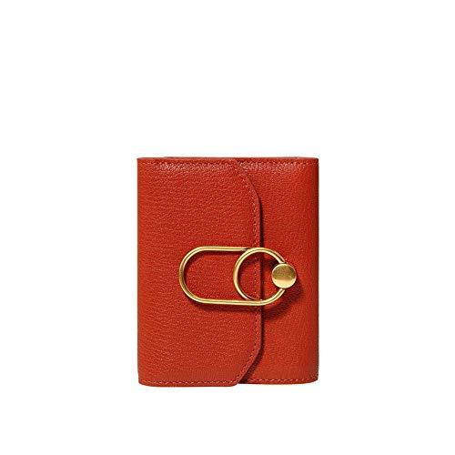 Damen-Portemonnaie Schaffell-Handtasche, rot -
