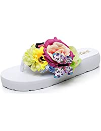 2685f1570 Yooeen Women Summer Slippers Colorful Holiday Party Sandals Wedge Platform Flip  Flops