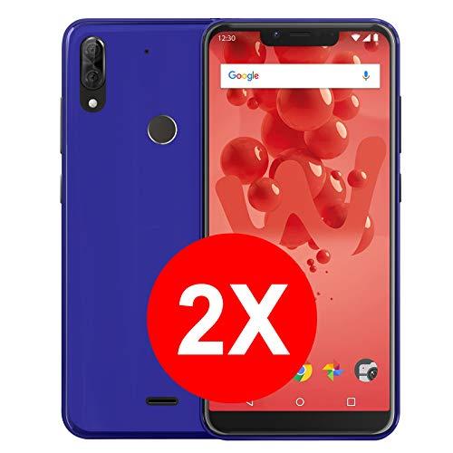 TBOC 2X Blau Gel TPU Hülle für Wiko View 2 Plus (5.93 Zoll) [Pack: Zwei Einheiten] Ultradünn Flexibel Silikonhülle [Nicht Kompatibel mit [Wiko View 2][Wiko View 2 Go]]