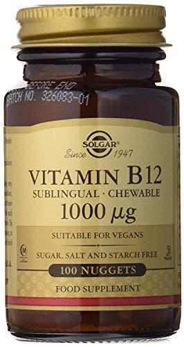 Solgar Vitamina B12, Comprimidos Masticables, Reduce el Cansancio, Ayuda a Liberar la...