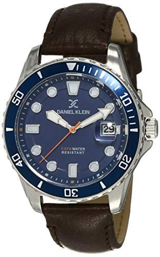Daniel Klein Analog Blue Dial Men's Watch-DK12121-6