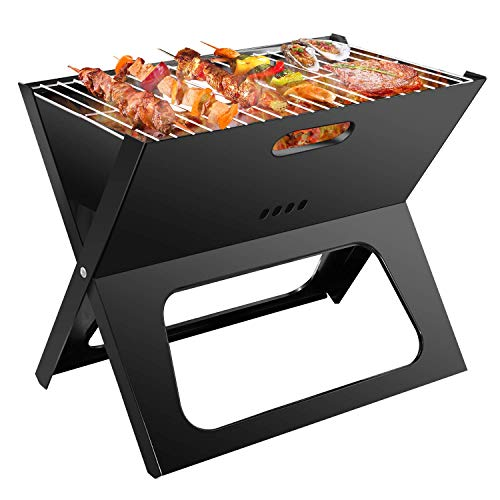 Holzkohlegrill, Picknickgrill Faltbare, BBQ Camping Grill, Outdoor Klappgrill, Tischgrill Für Picknick Party Barbecue