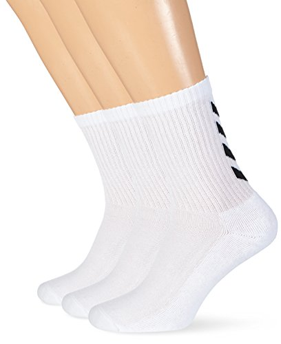 hummel Fundamental 3-Pack, Socks Unisex - Adulto, Bianco, 10