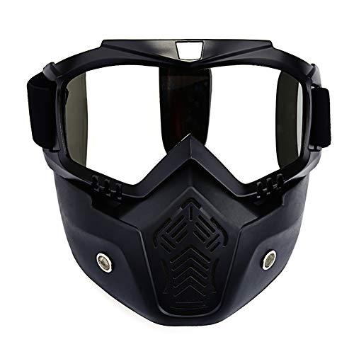 Tofree Motorradbrille, Helmmaske, Scheibe, Linse, Outdoor-Ausrüstung, Windschutz, durchsichtig, Average