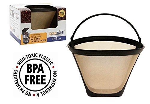 Goldfarbenes Marke wiederverwendbar # 4Kegel Filter ersetzt Black + Decker # 4Cone Coffee Filter und Permanent Black & Decker Kaffee Filter für Black und Decker Maschinen und Brauer - Cone Kaffee-filter 4