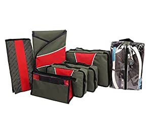 Harissons - 7-Pc Travel Organizer Set - Khakee- Travel Kit/Travel Bags