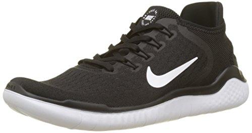 Nike Herren  RN 2018 Laufschuhe, Schwarz (Black/White 001), 42 EU (Schuhe Nike Running Herren)