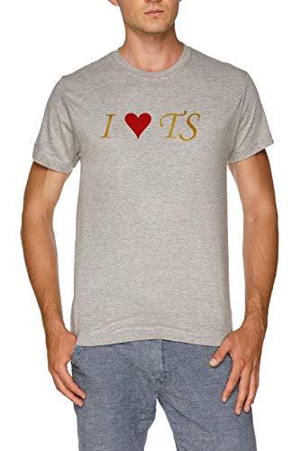 I Love TS Herren Grau T-Shirt Größe L | Men's Grey T-Shirt Size L (Taylor Herren T-shirt Swift)