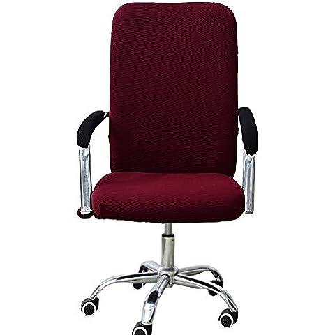 Big tamaño grande silla de oficina para Slipover tela silla de comedor, S, M, L, granate, large