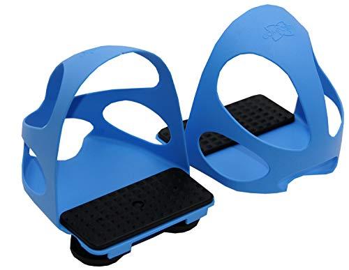Compositi Steigbügeleinlage mit Durchrutschschutz 1 Paar = 2 Stück für Erwachsene blau