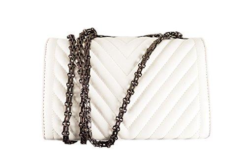 The fashion Bags, Borsa a tracolla donna bianco