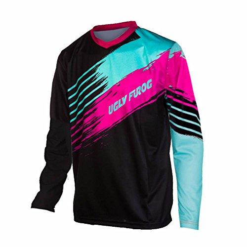 Uglyfrog 2017 V-collar Lange Ärmel Jersey Frühlingsart Motocross Mountain Bike Downhill Shirt Herren Sportbekleidung Kleidung (Racing-anzug Fox)