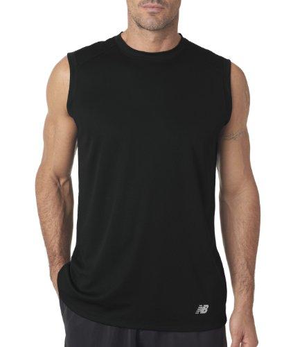 New Balance - Maglietta sportiva - Asimmetrico -  uomo nero - nero