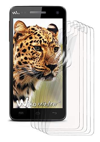 moex 5X Wiko Rainbow 4G   Schutzfolie Klar Bildschirm Schutz [Crystal-Clear] Screen Protector Display Handy-Folie Dünn Bildschirmschutz-Folie für Wiko Rainbow 4G Bildschirmfolie