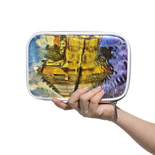 CPYang Federmäppchenhalter Brugge Kanal Gebäude Malerei Reißverschluss Bleistifttasche Kosmetik Make-up Pinsel Tasche Schreibwaren Stifte Box Reisepass Organizer Tasche