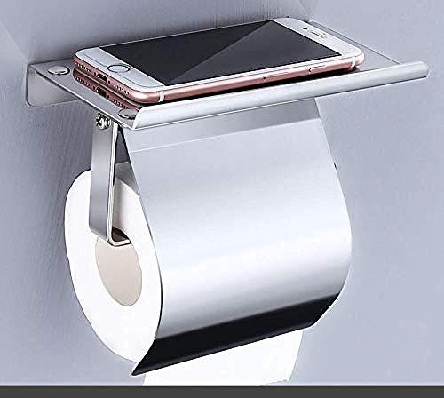 A literary youth Wan Gel toilettenpapierhalter ohne Bohren,Toilettenpapierhalter Toilettenpapierhalter aus Edelstahl 304 mit Deckel @ As_s