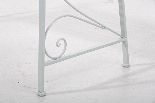 Gartenbank Adelaide, Metallbank 108cm ~ weiß - 8