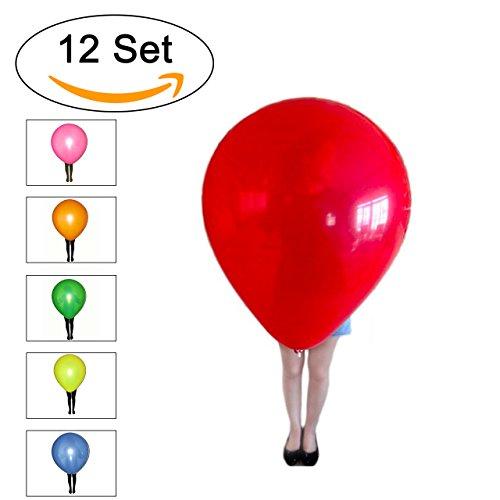 XL bunt - Umfang ca. 260cm !!! - Qualitätsware für Geburtstag, Hochzeit, Party, Festival (12) (260 Ballons)