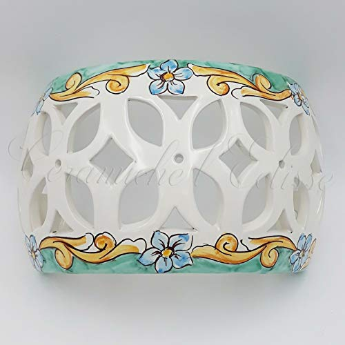 Applique Da Parete Interno Esterno Ceramica Di Vietri Artigianale Verde Floreale
