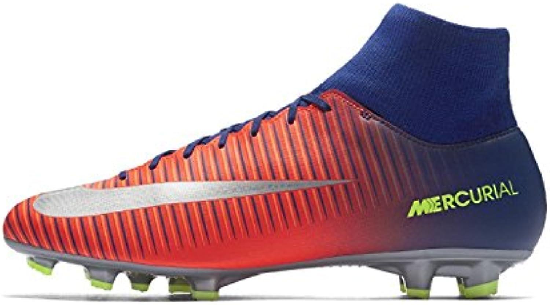 Nike Mercurial Victory VI DF FG, blau - orange - gelb, 42.5