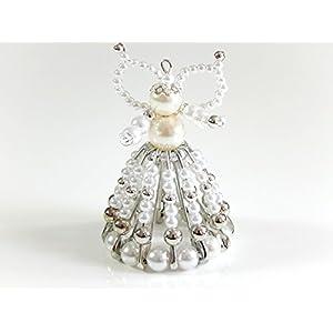 Engel, Perlenengel aus Sicherheitsnadeln, Schutzengel, Glücksbringer, Mitbringsel