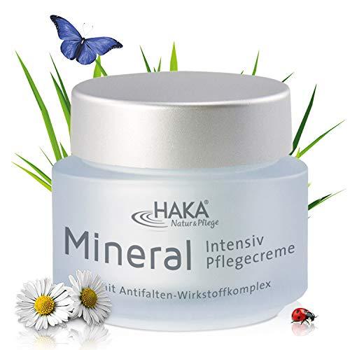 HAKA Pflegecreme Mineral Intensiv I 50 ml Tiegel I Anti Falten Creme für Damen I Tagescreme, Nachtcreme mit Zink, Magnesium und Kupfer I Feuchtigkeitspflege