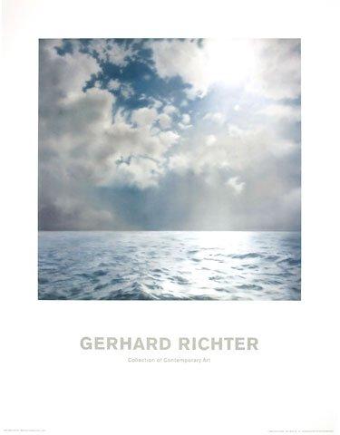 Kunstdruck/Poster: Gerhard Richter Seestück (Gegenlicht) - hochwertiger Druck, Bild, Kunstposter, 70x90 cm (Giclée Print Leinwand Brillanter)