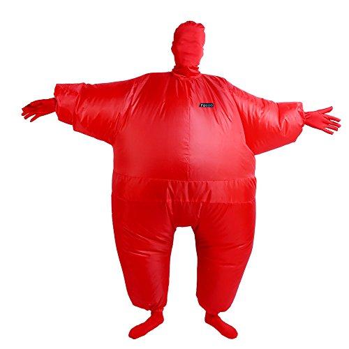Aufblasbar Blowup Döbel Ganzkörper Anzug Kostüm Ganzanzug Weihnachten Toll (Rot) - Kinder-haut-anzug-kostüm -
