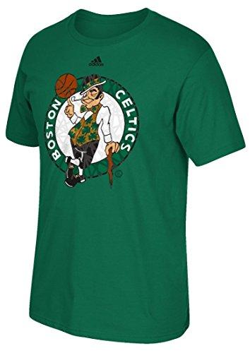 "Boston Celtics Adidas NBA ""Cut The Net"" Premium Print S/S Men's T-shirt Camicia"