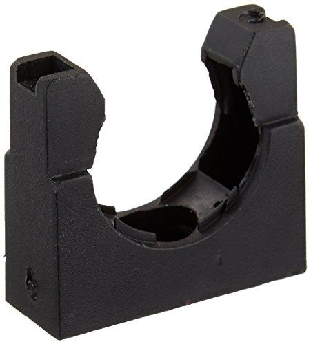 10-teilig, Kunststoff Halterung schwarz für 25mm gewellt Tubing - Tubing Conduit