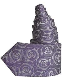 Toutacoo, Cravate en Soie - Cravate Rayée et à Motifs