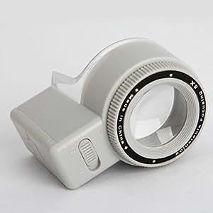 Loupe - 8X cylindrique focale Loupe réglable en longueur avec la lumière LED Source