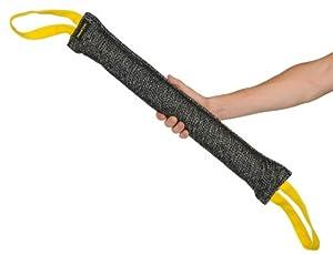 Bâton à mordre pour l'entraînement - Fabriqué en lin français de qualité - Parfait pour l'entraînement - Taille L - 6 cm de large par 60 cm de long - 2 poignées à chaque extrémité - LES COULEURS PEUVENT VARIER !!! Disponible dans plusieurs tailles et maté