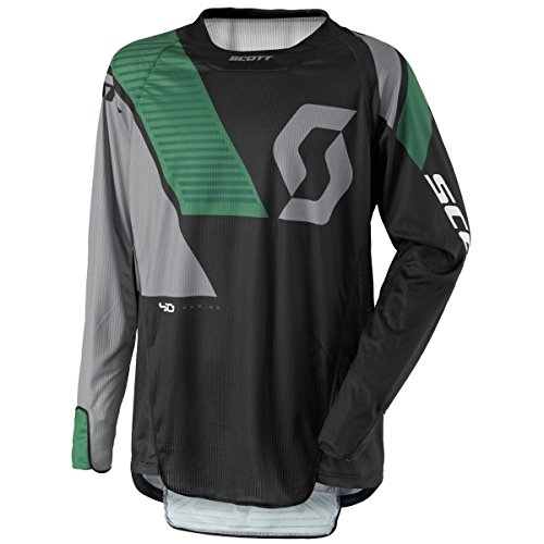 Scott 450 Podium MX Motocross Jersey/DH Fahrrad Trikot schwarz/grau/grün 2017: Größe: XL (52/54)