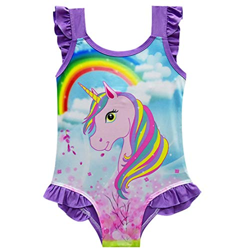 Gaga city Badeanzug Einhorn Kinder Mädchen Einteiler Badeanzüge Schwimmanzug Bademode Strandanzug