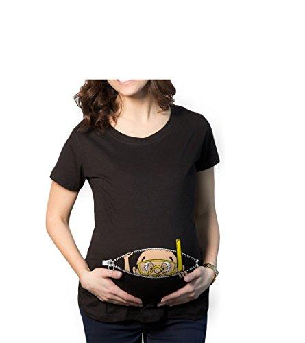 Yvonnelee Witzige Süße Schwangere Maternity Damen Umstandsmode T-Shirts mit Mutterschafts-Niedliche lustige Slogan Motiv Schwangerschaft Geschenk Kurzarm-L