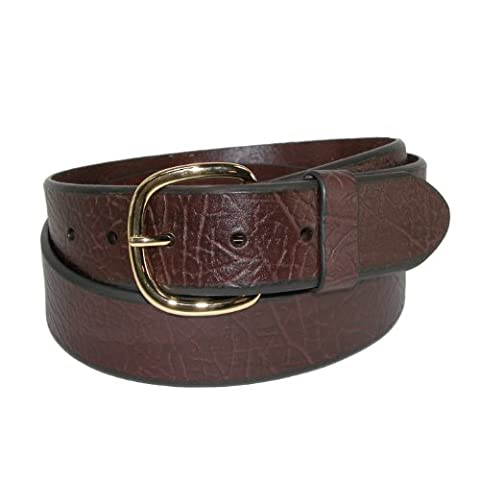 Aquarius Men's Big & Tall Oil Tanned Leather Belt with