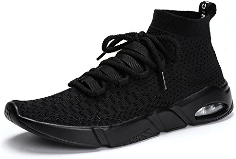 HUSK'SWARE Herren Sportschuhe Sneakers Ultra Leichte Laufschuhe Training Sport Turnschuhe Atmungsaktiv Knit Schnüren