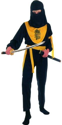 Generique - Ninja-Kostüm gelber Drache für Jungen 140/152 (10-12 Jahre)