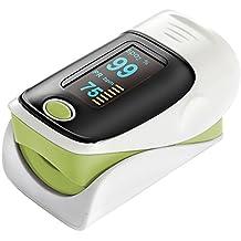 Carejoy Pulsímetro de dedo SpO2 PI PR OLED Oxímetro del monitor del pulso Bajo consumo de energía Fácil de usar