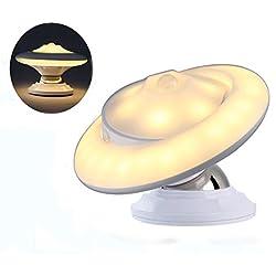 Luce Notturna LED Luci Notturne con Sensore di Movimento 3 Modos AUTO/ON/OFF USB Ricaricabile Orientabile per Bambini, Lettura, Neonato, Bianco Caldo