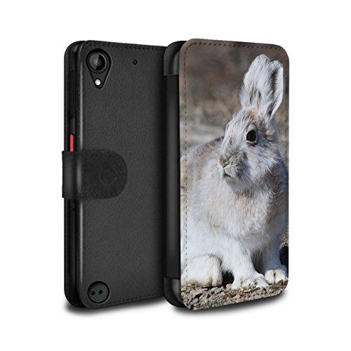 stuff4-pu-pelle-custodia-cover-caso-portafoglio-per-htc-desire-530-bianca-artico-lepre-artico-animal