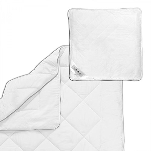 4 Jahreszeiten Microfaser Bettdecke :: Allergiker geeignet :: wahlweise mit 80x80cm Kopfkissen