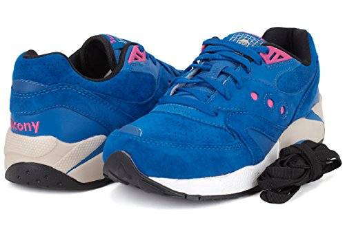 Saucony Originals G9 Control, Baskets Basses Homme Bleu