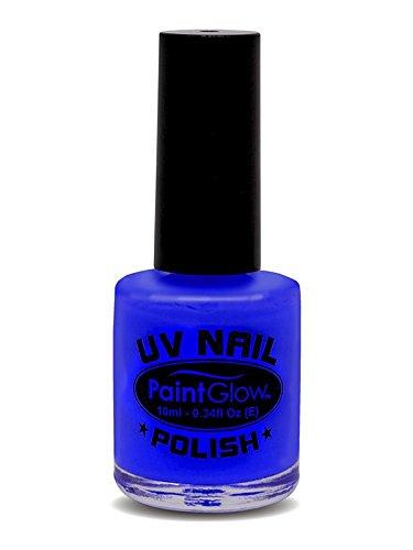 Smiffys - SM46025 - Vernis à Ongles UV Bleu 12 ml - Taille Unique